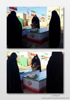 غبارروبی قبور شهدای گمنام به مناسبت ایام الله دهه فجر