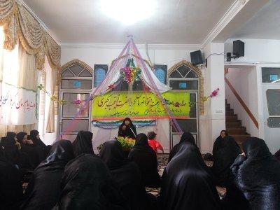 جشن میلاد اسوه صبر و استقامت در مدرسه علمیه الزهرا(س) شهرستان بافق