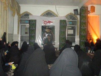شام غریبان سرور و سالار شهیدان در جمع طلاب خواهر بافقی